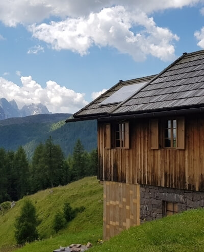 Baita nelle Dolomiti