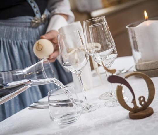 Servizio 5 stele nel ristorante in Trentino