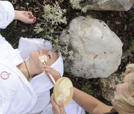 Wellness in the garden of the Hotel Olympic