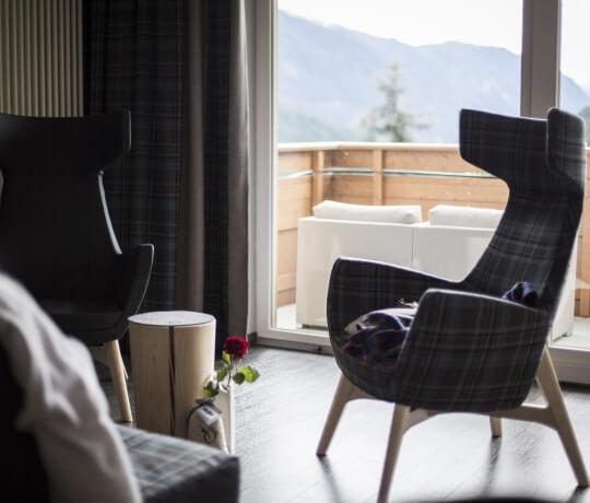 Dettaglio dell'arredamento della Dolomiti Romantic