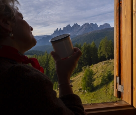Relaxation in the hut of the Hotel Olympic