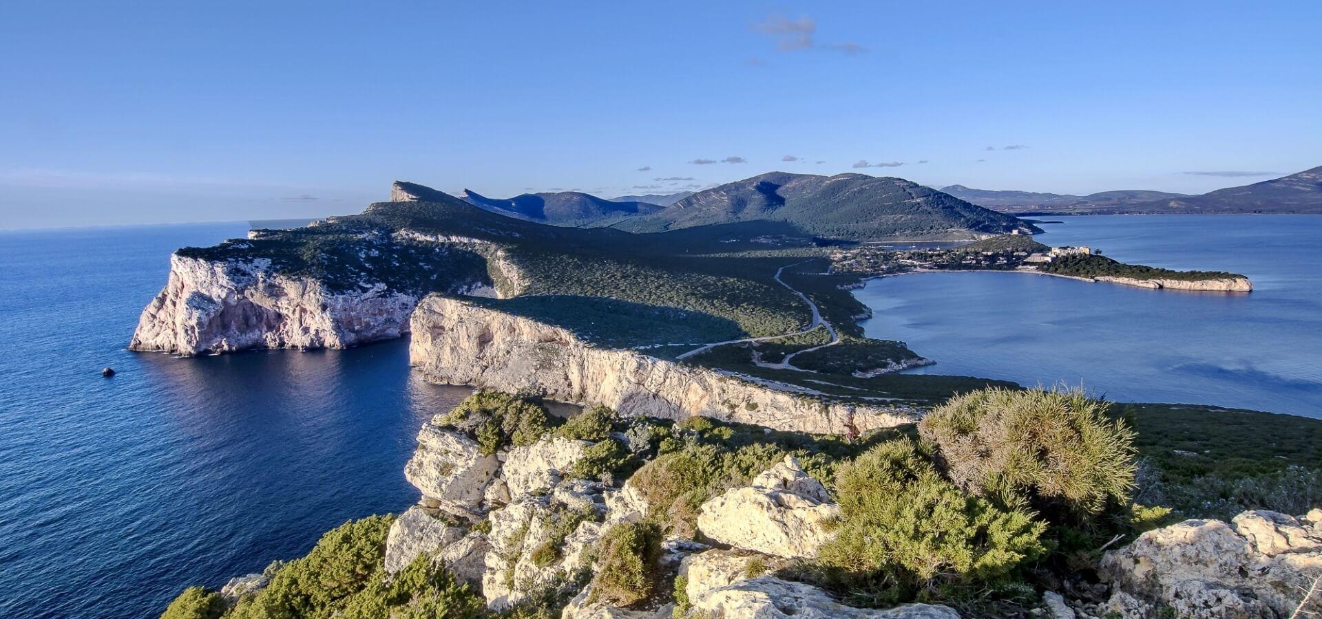 Vista panoramica Capocaccia Isola Piana