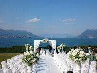 Allestimento per cerimonia sul lago