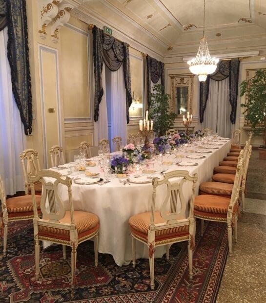 Tavolo Reale nella sala Gritti