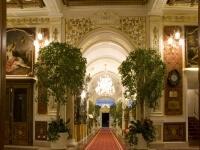 Corridoio della hall con piante