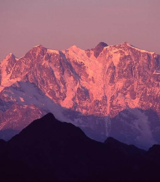 Cima del Monte Rosa al tramonto