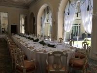Tavolo Reale apparecchiato in Sala Monte