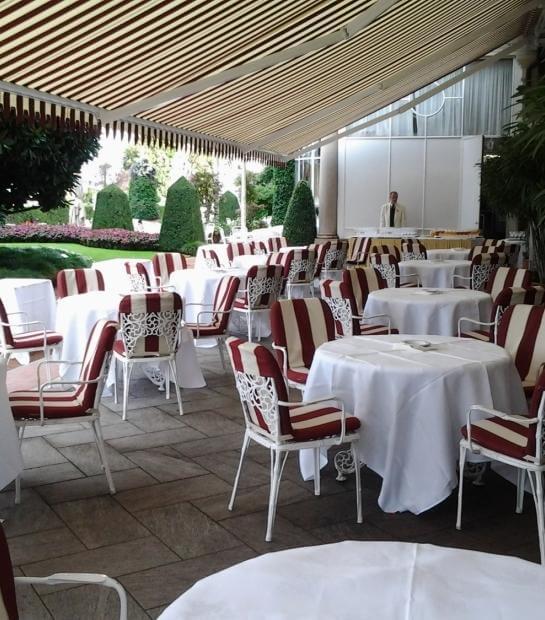 Panoramica sulla terrazza della Sala Des Dames