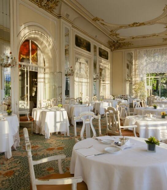 Panoramica della lussuosa sala ristorante