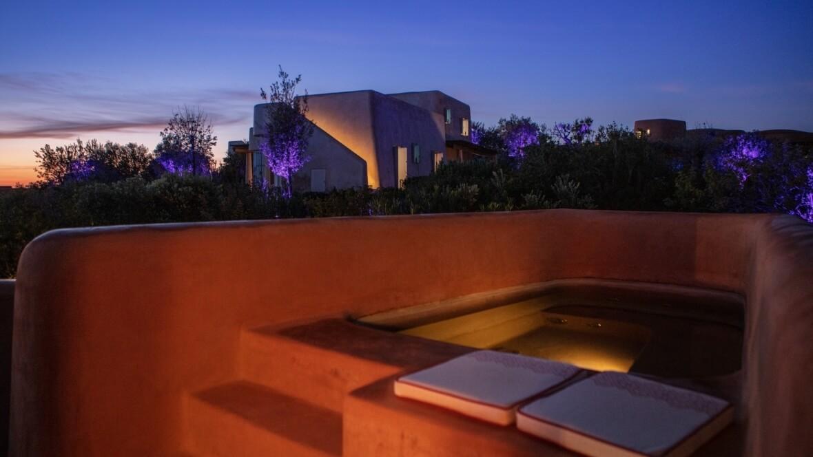 Villa Arenada - La piscina in notturna