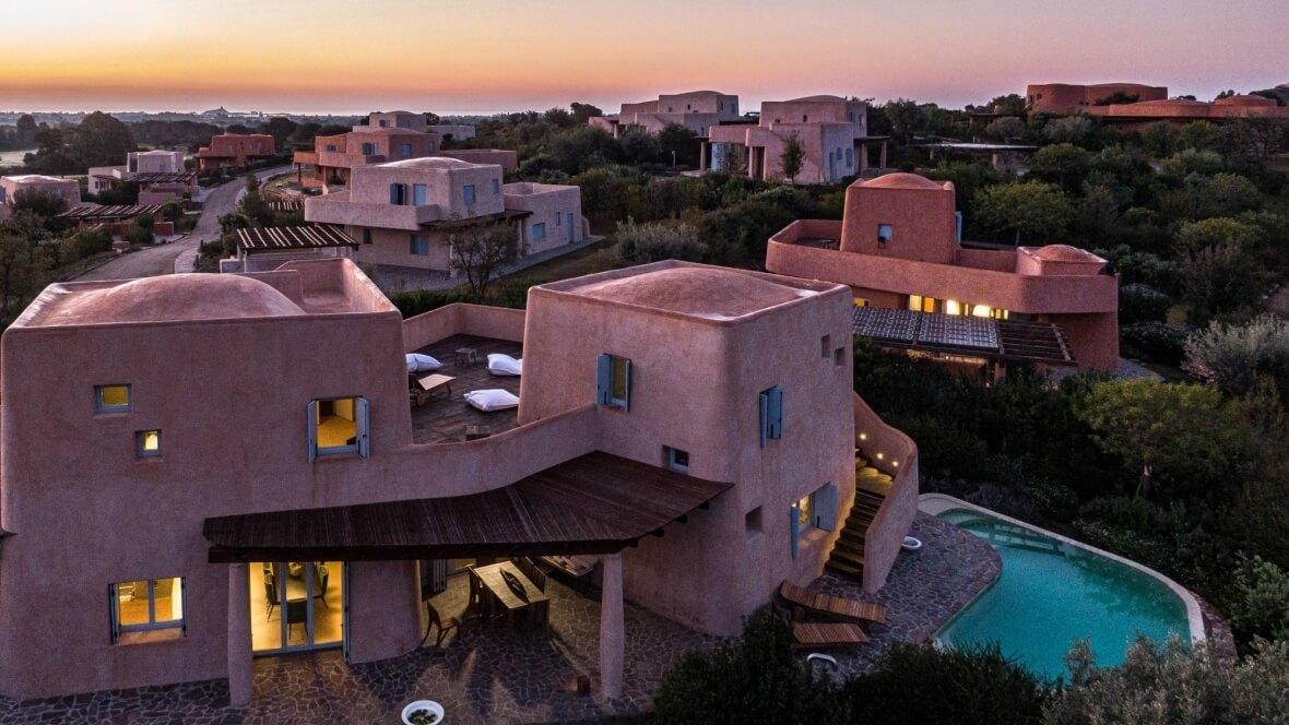 Villa Nea - Panoramica al tramonto