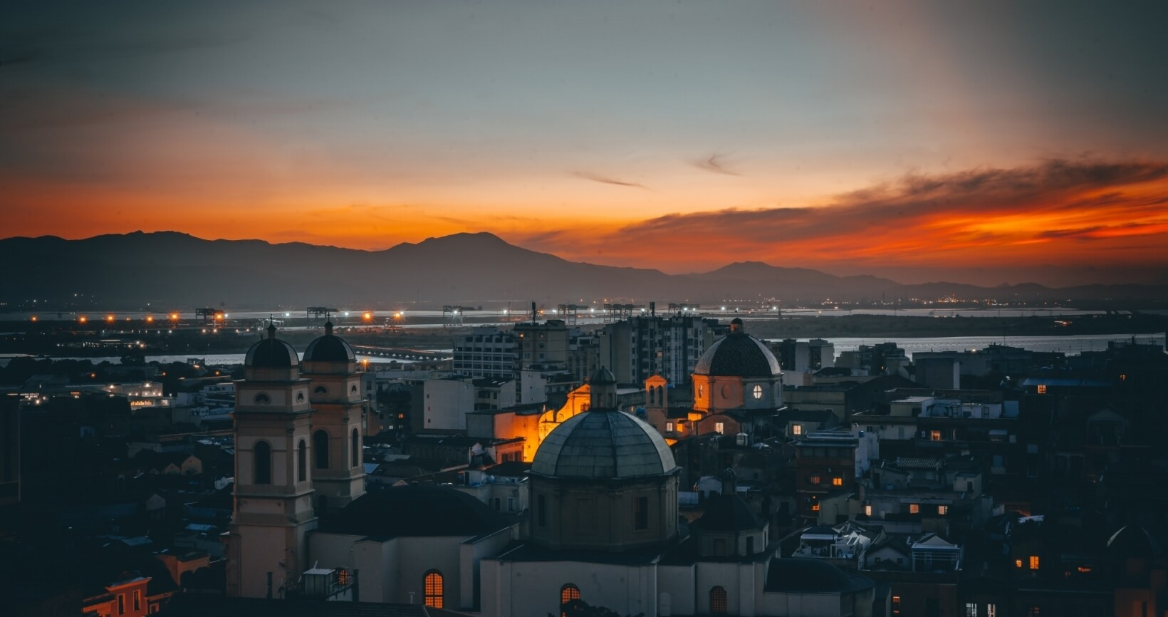 Cagliari night view