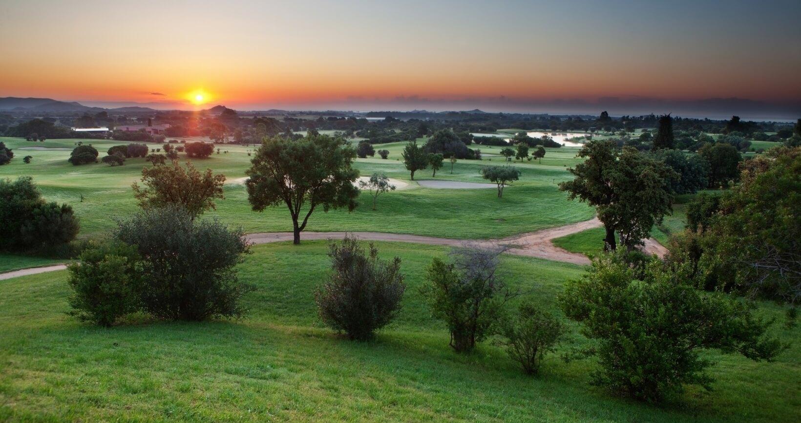 Vista panoramica campo da golf