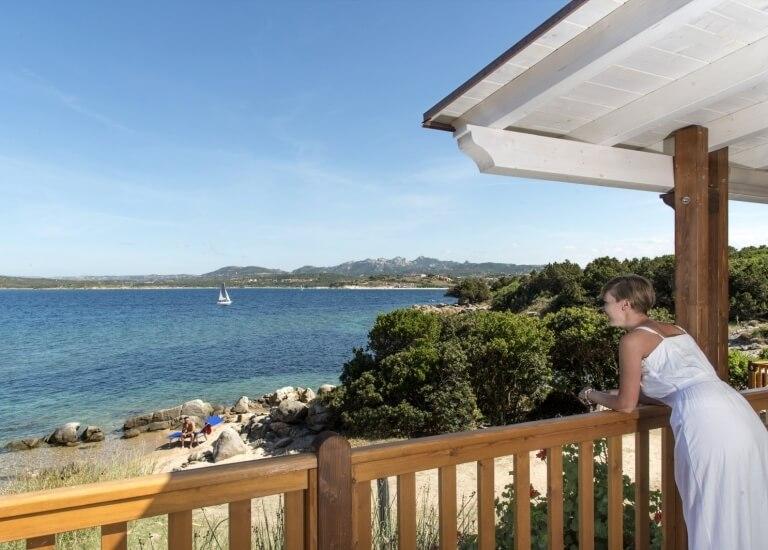 Vista mare dalla Veranda del Bungalow Paradise Suite Bay
