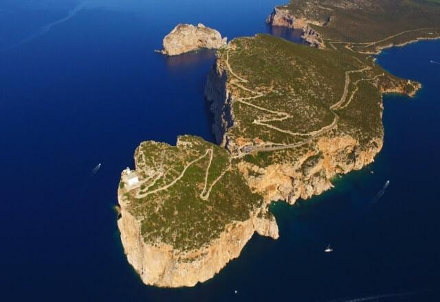 Luftbild des Leuchtturms und des Vorgebirges