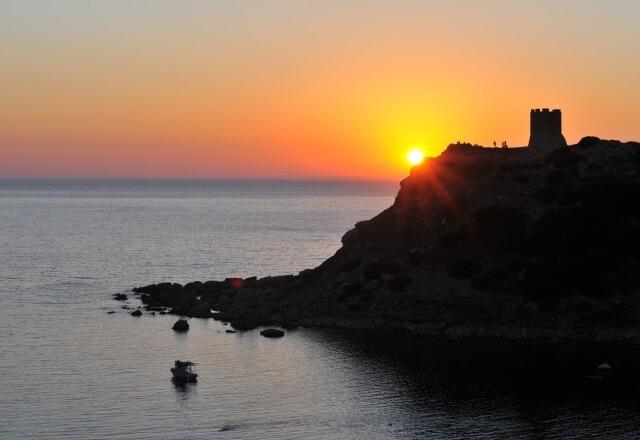 Sunset on the Torre del Porticciolo