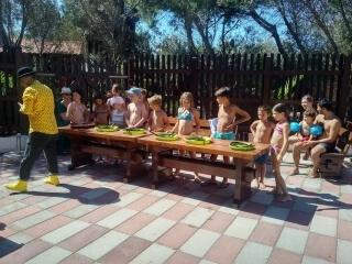 Camping in Sardinië met animatie