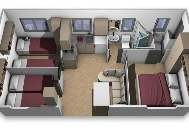 Interior Mobile Home Torre Smeraldo