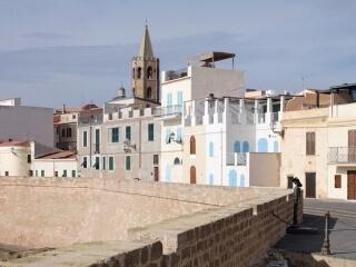 Häuser in der Innenstadt auf den Bastionen
