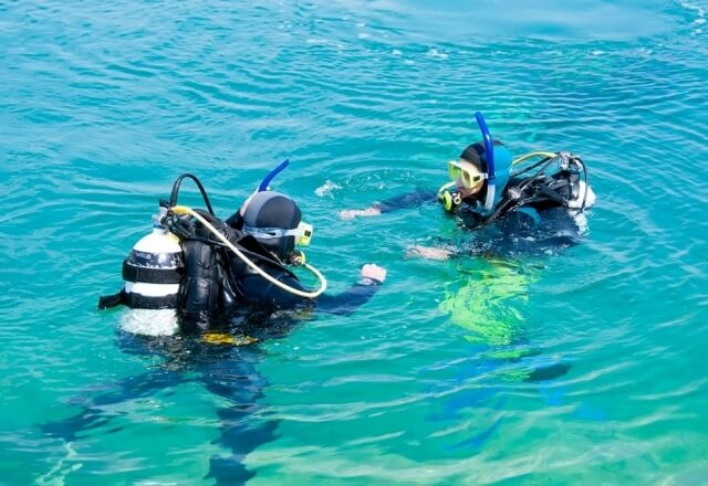 Scuba Diving with instructor